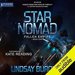 Star Nomad     Fallen Empire, Book 1              By:                                                                                                                                 Lindsay Buroker                               Narrated by:                                                                                                                                 Kate Reading                      Length: 9 hrs and 28 mins     375 ratings     Overall 4.4