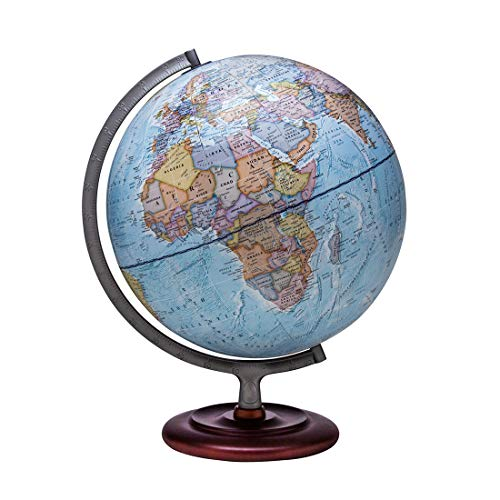 "Waypoint Geographic World Globe - Geographic Mariner 12"" Desk Decorative Globe with Stand, up to Date World Globe"