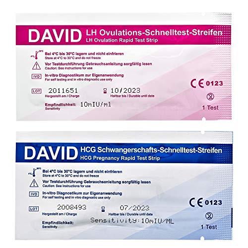 25 David Ovulationstest 10miu/ml + 5 Schwangerschaftstest Schnelltest