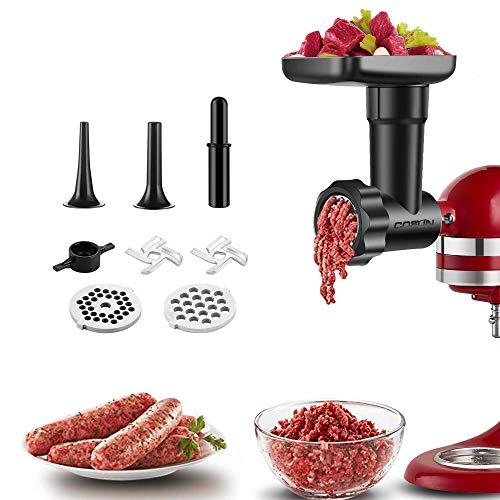 Accessori Per Tritacarne Alimentare Per Robot da Cucina KitchenAid, Accessori Compatibile Con Tutti i Robot da Cucina KitchenAid, Accessorio Per Tritacarne Sostituibile COFUN (Nero)