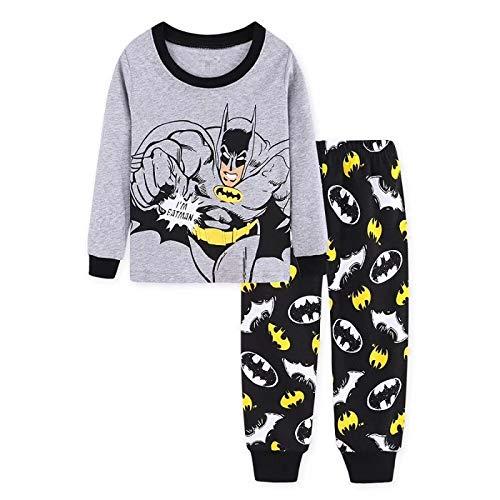 Conjunto De Pijamas Para Niños Ropa De Dormir Para Niños Pjs De Algodón Pantalones De Manga Larga Traje Para Niños Pjs Tamaño 2-7 Edad Ropa De Dormir