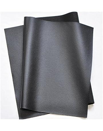 bba0ad4100bc7 合皮 薄手 フェイクレザー 生地 138×50cm (ブラック) 9005-1