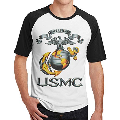 MarySWest USMC Semper Fidelis Aufkleber Neues gedrucktes Muster Männer Kurzarm T-Shirt Raglan Männer T-Shirts Baumwolle T-Shirts Tops Hombre