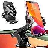 UVERTOOP Soporte Móvil Coche con Ventosa Fuerte Soporte Teléfono Coche, Salpicadero/Parabrisas Porta Movil Coche con 3 en 1 para iPhone 12 11 Pro XS MAX XR 8 7 6 Plus Galaxy S10 + S9 y ect