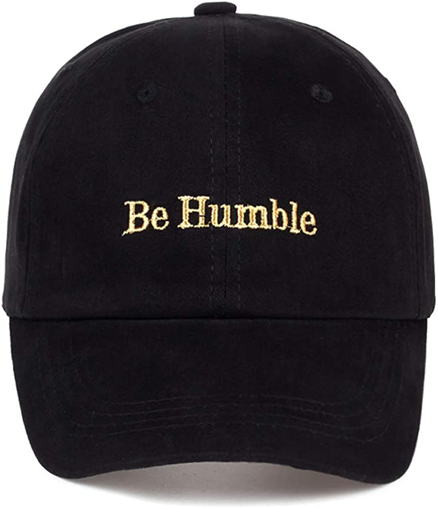 Unisex Be Humble Embroidery Baseball Cap Adjustable Structure Dad Hat Snapback Hat for Men Women