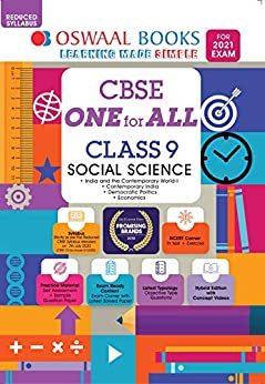 Oswaal CBSE One for All Class 9 Social Science (Reduced Syllabus) (For 2021 Exam) by [Oswaal Editorial Board]