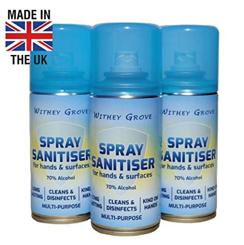 Withey Grove Alcohol Spray Sanitiser for Hands and Surfaces
