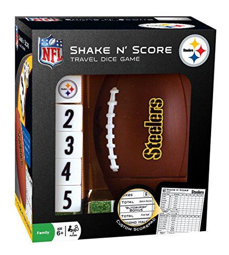 MasterPieces NFL Pittsburgh Steelers Shake N' Score Travel Dice Game