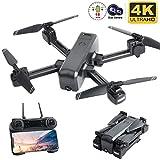 Flashbee F80 Drohne mit 4K Kamera für Erwachsene,Follow Me,WiFi-FPV-Live-Video,Lange Flugzeit, Headless-Modus,große Reichweite,Faltbarer RC-Quadcopter für Anfänger und Profis