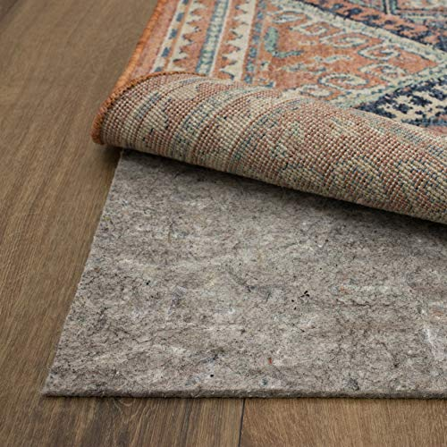 """Mohawk Home Dual Surface Felt and Latex Non Slip Rug Pad, 1/4"""" Thick, 2'x8', Brown"""