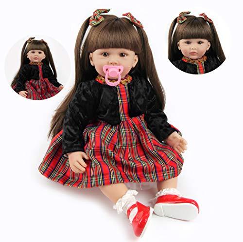 ZIYIUI 24''/60 cm Bambola Reborn Realistico Baby Dolls Bambino Neonatale Simulazione Morbido Silicone Vinile Toddler Babies Reborn Bambole Femmine Regalo Giocattol