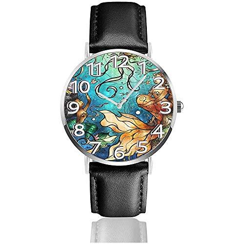 La sirène sous la mer Observe la Montre-Bracelet de Quartz de Silence de Vie de la Vie d'unité Centrale avec l'acier Inoxydable argenté