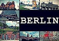 BERLIN horizontal (Tischkalender 2022 DIN A5 quer): Streets of Berlin (Monatskalender, 14 Seiten )