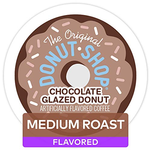 The Original Donut Shop Chocolate Glazed Donut, Single-Serve Keurig K-Cup Pods, Medium Roast Coffe, 72 Count