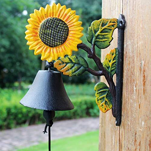 CKH Gietijzer Zonnebloem Retro IJzeren Art Deurbel Winkel Voor Wanddecoratie Binnenplaats Villa Tuin Home Decoratie
