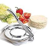 Xiamusummer Tortilla Maker Pastapresse aus Aluminium Hersteller Pita Brot flach Mais Mehl Geformt haltbar Manuell leicht leckere Küche Cookwares Silber