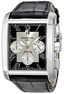 Raymond Weil Men's 4878-STC-00268 Don Giovanni Cosi Grande Stainless Steel Case Black Leather Strap with Crocodile Pattern Watch Find Prices and Now and review image