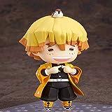 Wzxpoor 10cm Figuras Toys Doll Demon Slayer Anime Figuras Agatsuma Zenitsu Modelo Q Versión de Clay ...