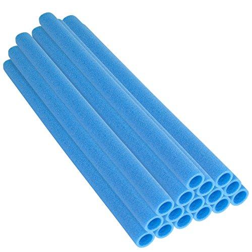 Upper Bounce 16 Pezzi Tubo Spugna per Poli da Trampolino - Spugna Copripalo - Spugne Tappeto Elastico da Giardino Protettive - 84 cm per Poli da Trampolino - Poli da 1 Pollice - Blu