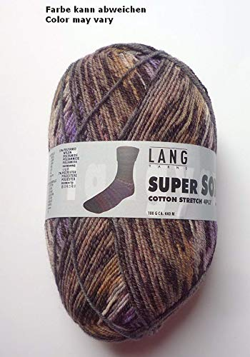 Lang Yarns 100g Super Soxx Cotton Stretch 4-Fach Sockenwolle Fb. 26