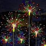 Mixtooltoys luci solari fuochi d artificio 2 Pacchetto Rame LED Stellato luci Stringa di Fata all aperto Luce di Natale per Il Percorso di Paesaggio Patio Festa di Nozze corridoio Impermeabile