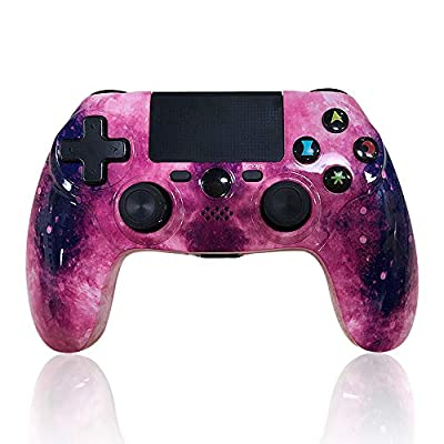 PS4 Controller Wireless Gaming Controller PS4 Double Vibration Bluetooth Game Controller with Touch Pad High-Precision Joysticks for Playstation 4( New Universe, Newest)