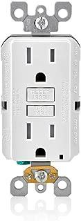 Leviton GFTR1-3W SmarTest Self-Test SmartlockPro Slim GFCI Tamper-Resistant Receptacle with LED Indicator, 15-Amp, 3-Pack, White