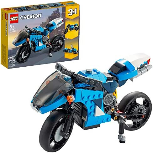 LEGO Creator 3in1 Superbike 31114 Toy Motorcycle Building Kit Makes a Great Gift for Kids Who product image