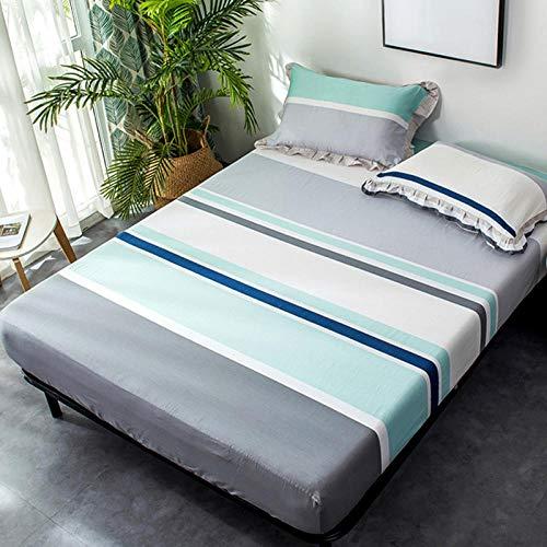 HPPSLT Protector de colchón - óptimo antiácarosLa sábana de algodón de impresión a Prueba de Polvo-7_1.2x2.0m