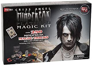 Criss Angel MindFreak Platinum Magic Kit. Magician Show Set 250 Tricks and DVD