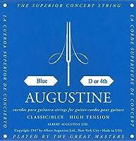 【国内正規品】バラ弦 AUGUSTINE オーガスティン クラシックギター弦 BLUE HIGH TENSION 4弦(D)