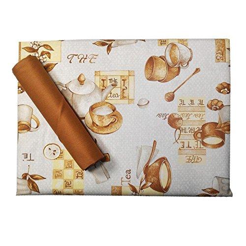 Sirge Mantel de mesa de cocina 8 italiano Servilletas de papel 100% algodón, diseño de frutas