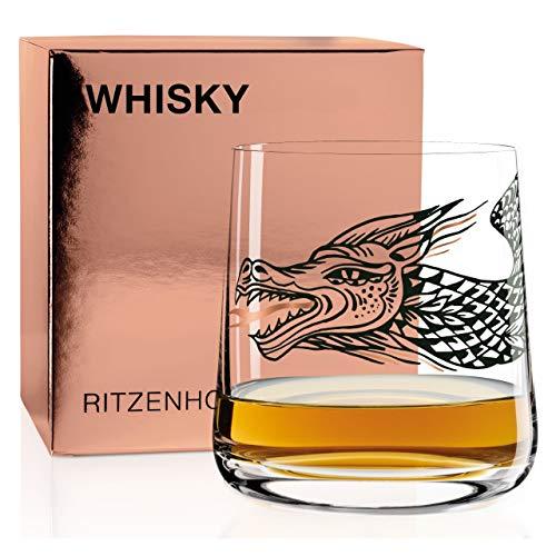 RITZENHOFF Next Whisky Whiskyglas von Olaf Hajek, aus Kristallglas, 402 ml, 3540016