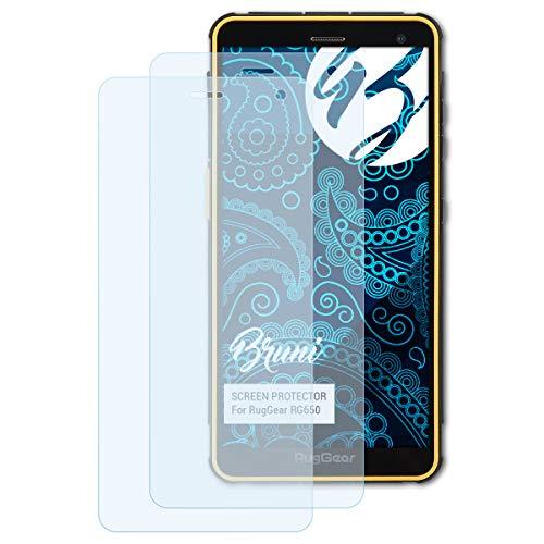 Bruni Schutzfolie kompatibel mit RugGear RG650 Folie, glasklare Bildschirmschutzfolie (2X)