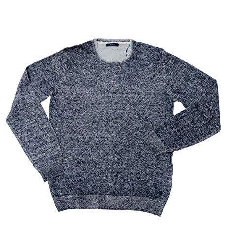 Pierre Cardin Herren Travel Comfort Strick Pullover, Blau, L