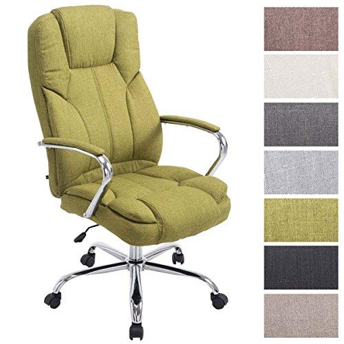 CLP XXL Bürostuhl XANTHOS mit Polsterung und Stoffbezug I Höhenverstellbarer Schreibtischstuhl I Chefsessel bis max. 210 kg belastbar I erhältlich Grün