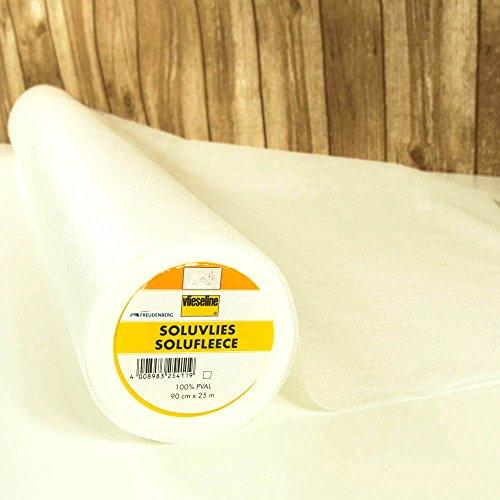 Freudenberg Vlieseline Soluvlies wasserlöslich weiß - Preis gilt für 0,5 Meter