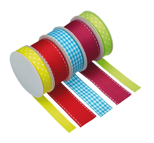 Kitchen Craft Sweetly Does It Printed Bright Decorating Ribbon