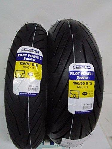 Par de neumáticos Michelin Pilot Power 3 160/60-15 - 120/70-15 para Yamaha T-Max 500-530 de 2008 a 2020