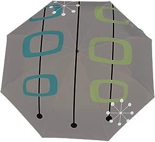 Oximing Umbrella Windbreak, Ultraviolet Umbrella, Automatic Open/Close Small Light Folding Umbrella for Men and WomenCreative Barbecue Pattern