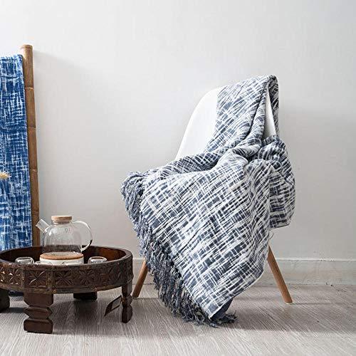 XUMINGLSJ Mantas para Sofa, Mantas para Cama de Franela Reversible, Mantas Ligeras de 100% Microfibra - Fácil De Limpiar - Extra Suave Cálido -Azul Claro_El 100 * 165cm