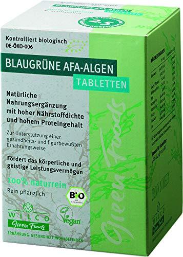 AFA Alge Bio, Wilco Green Foods Tabletten/Presslinge 100% Naturrein. Biologisches Nahrungsergänzungsmittel für körperliche Fitness, geistige Vitalität und ein gesteigertes Wohlbefinden, 150 Tabl.