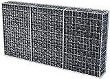 EBTOOLS Gabbione con Copertura, Gabbioni a Rete Cestello Metallico in Acciaio Galvanizzato per Casa e Affari, capacità di Carico 1400 kg, 200 x 30 x 100 cm