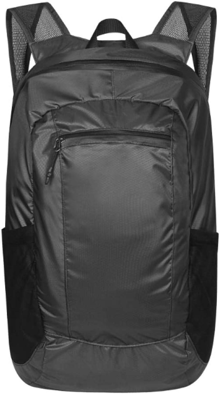 QWKZH Leichter Faltbarer Outdoor-Freizeitrucksack bietet Platz für den tragbaren leichten Rucksack des Reiserucksacks