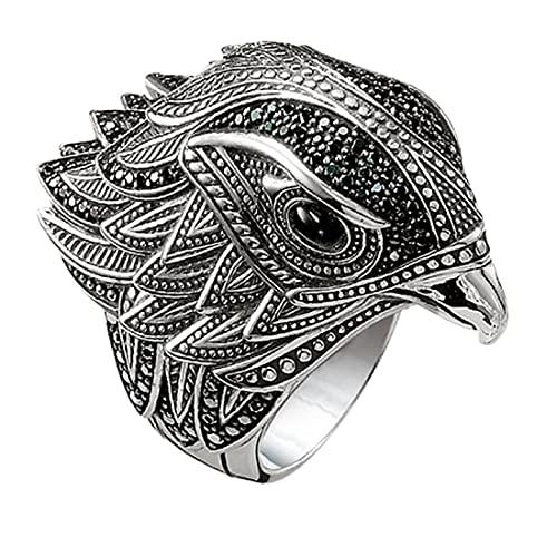 Viking Eagle Head Ring for Men, Norse Viking Hawk Head Ring Gothic Celtic Eagle Bird Ring for Boys (9)