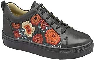 Zapatos de Cordones de Piel para Mujer Negro Negro