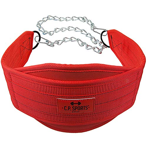 Cinturón para pesas C.P. Sports correa de inmersión, rojo