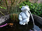 Steinfiguren Frosch Wasserspeier Garten Deko-Gartenfigur Koi Teich WasserspuckerSteinfiguren Frosch Wasserspeier Garten Deko-Gartenfigur Koi Teich Wasserspucker