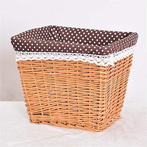 Jenghfnifer Laundry Basket Wicker Basket Storage Chest Trunk Hamper With Cloth Linning for Bedroom and Bathroom (Color : G, Size : L)