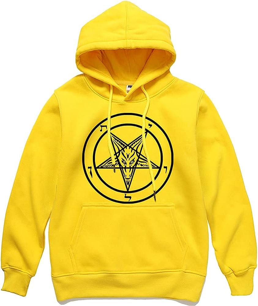 Vintage Satanic Pentagram Hoodie Pullover Men's Vikings Tattoo Norse Mythology 3D Print Hoodie Pullover Sweatshirt
